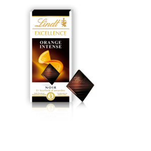 Lindt Orange Intense Chocolate Bar
