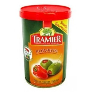 Tramier - Red Pepper Stuffed Green Olives 120g