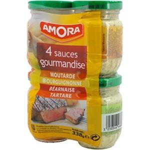 Amora - 4 Sauces Bearnaise, Burgundy, Tartar, Mustard 338g