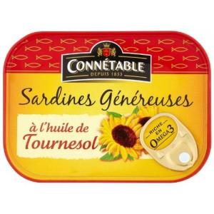 Connetable - Sardines in Sunflower Oil 115g