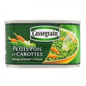 Cassegrain Petits pois et carottes 265g